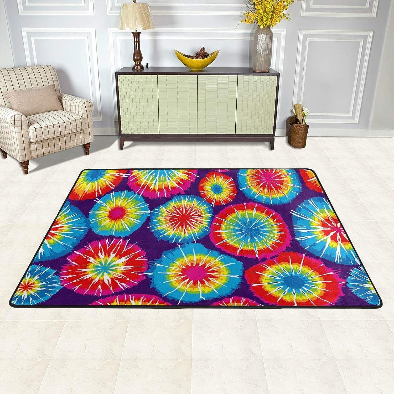 MALPLENA Rainbow Tie Dye Backgrounds Rugs for Living Room Doormat Carpet Floor Mats shoes Scraper for Living Room Dining Room Bedroom Kitchen Non Slip