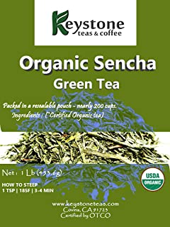 Keystoneteas Organic Bulk, Sencha Green Tea, 16 Ounce