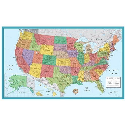 Large Us Map Amazon Com