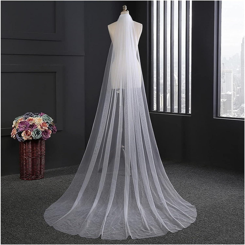 YYOBK Ts Max 63% OFF 3M Or 2M Max 62% OFF White Ivory Wedd Church Used Wedding Veil for