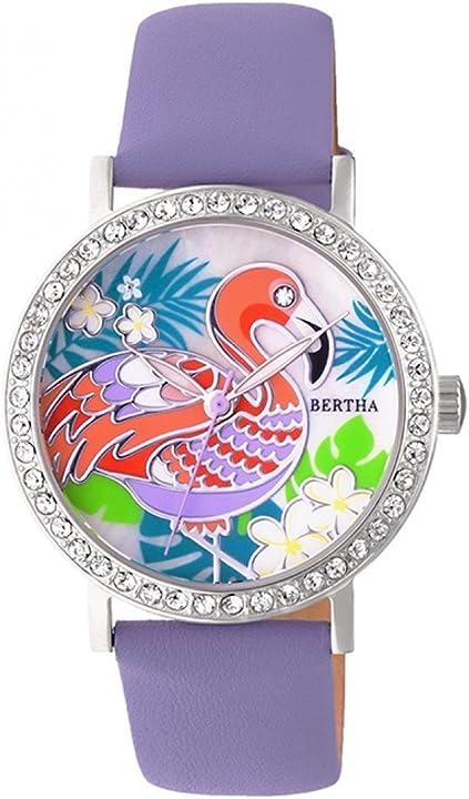 Orologio donna  bertha luna madreperla pelle orologio BTHBR7701