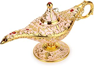 Hipiwe Vintage Magical Legend Aladdin's Genie Lamp for Home/Wedding Table Decoration,Collectable Rare Classic Arabian Costume Props Lamp Pot &Gift for Party/Halloween/Birthday (Beige)