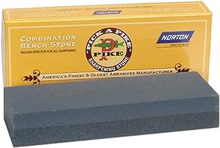 Norton Abrasives - St. Gobain 85450 Crystolon Coarse/Fine Combination Grit Benchstone, Premium Silicon Carbide Abrasive, 6