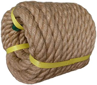 Twisted Manila Rope Jute Rope (3/4 in x 50 ft) Natural Thick Hemp Rope for Crafts, Nautical, Landscaping, Decorations, Hanging Swing