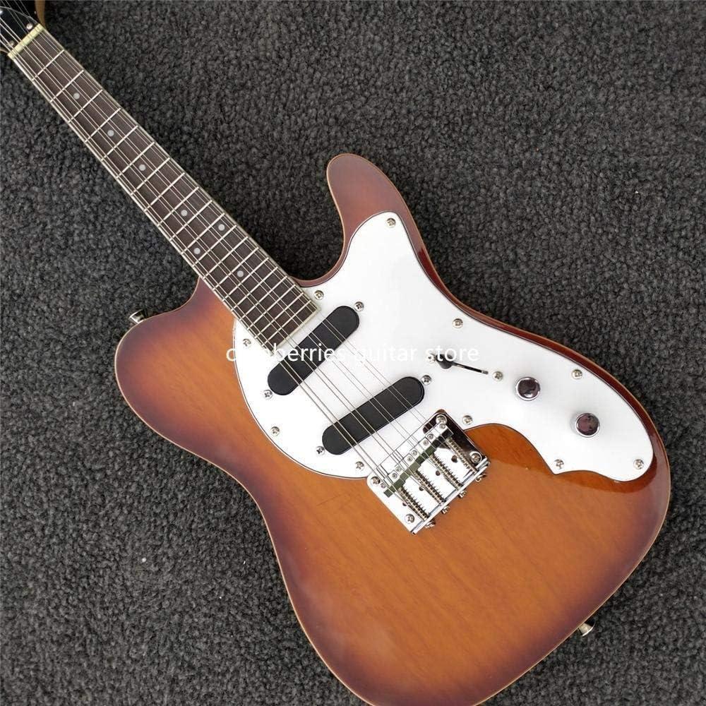 FATEGGS Guitarra eléctrica 8 Cuerdas Eléctrico Mini Viaje Acústico String S Cadenas Acústicas Accesorios de Guitarra (Color : Guitar)