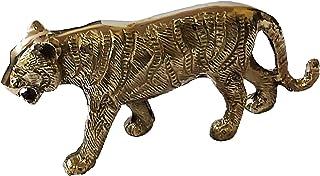 PARIJAT HANDICRAFT Brass Lucky Tiger Statues Desktop Figurine Home & Office Decor (1)