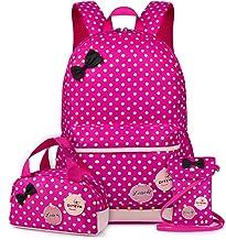 VBG VBIGER Carvas Backpack for Boys & Girls School Bags Polka Dot Backpack 3pcs Kids..