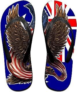 Unisex Non-slip Flip Flops Eagle In Australian Flag Cool Beach Slippers Sandal