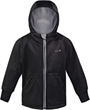 Therm Boys Rain Jacket, Lightweight Hoodie Raincoat - Eco Friendly Fabric, Fleece Lined - Camo Black Navy - Kids Youth