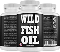 Wild Fish Oil, U.S. Caught Omega-3 DPA, DHA & EPA - 60 Burpless Gel caps, Non-GMO, Sustainable Certified, Tested for Purity (60 Capsules)