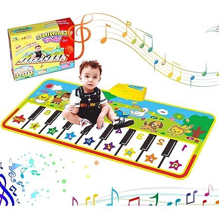 Tappetino Musicale per Bambini Tappeto strisciante per Bambini Giocattolo Musicale educativo Regalo per Bambini Fishlor Tappeto