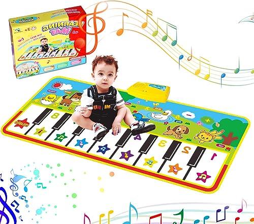 RenFox Tapis de Piano, Tapis de Musical Tapis de Danse Tapis de Musique Bébé Activité Tapis de Sol Jeu Musical Touche...