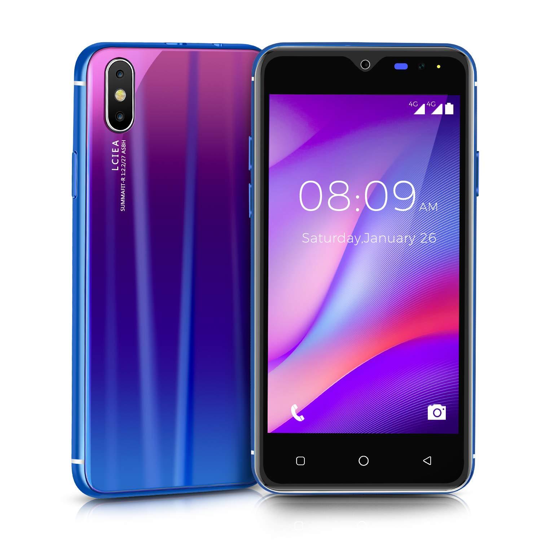 Móviles y Smartphones Libres, Unlocked 3G Teléfono Móvil Libre y sin Bloqueo de SIM, 5.0 Pulgadas Android GO Teléfono (5.0MP HD Cámara,Dual SIM,1GB RAM & 4GB ROM (GPS,WiFi,Bluetooth) (ShaQx I8-Blue): Amazon.es: Electrónica