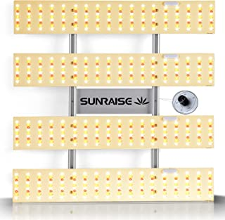 LED Grow Light SUNRAISE QB2000 3x3ft 4x4ft Dimmable LED Grow Lights with IR, High PPFD Upgraded Full Spectrum LED Growing ...