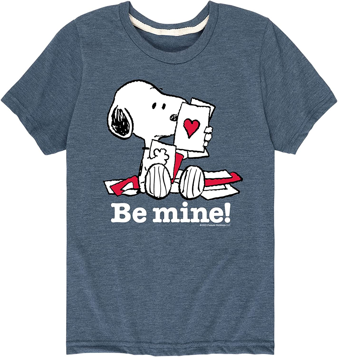 Peanuts - Be Mine Snoopy - Toddler and Youth Short Sleeve Graphic T-Shirt