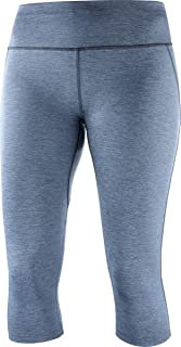Salomon Women's Agile Mid Running Tight, Women's, Flint Stone/Graphite, Small