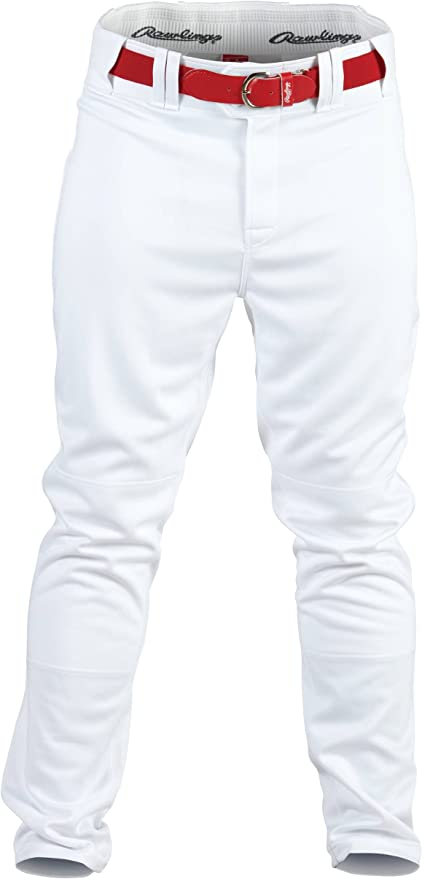 Rawlings Mens Semi-Relaxed Pants with Pin Stripe Design X-Large White//Black