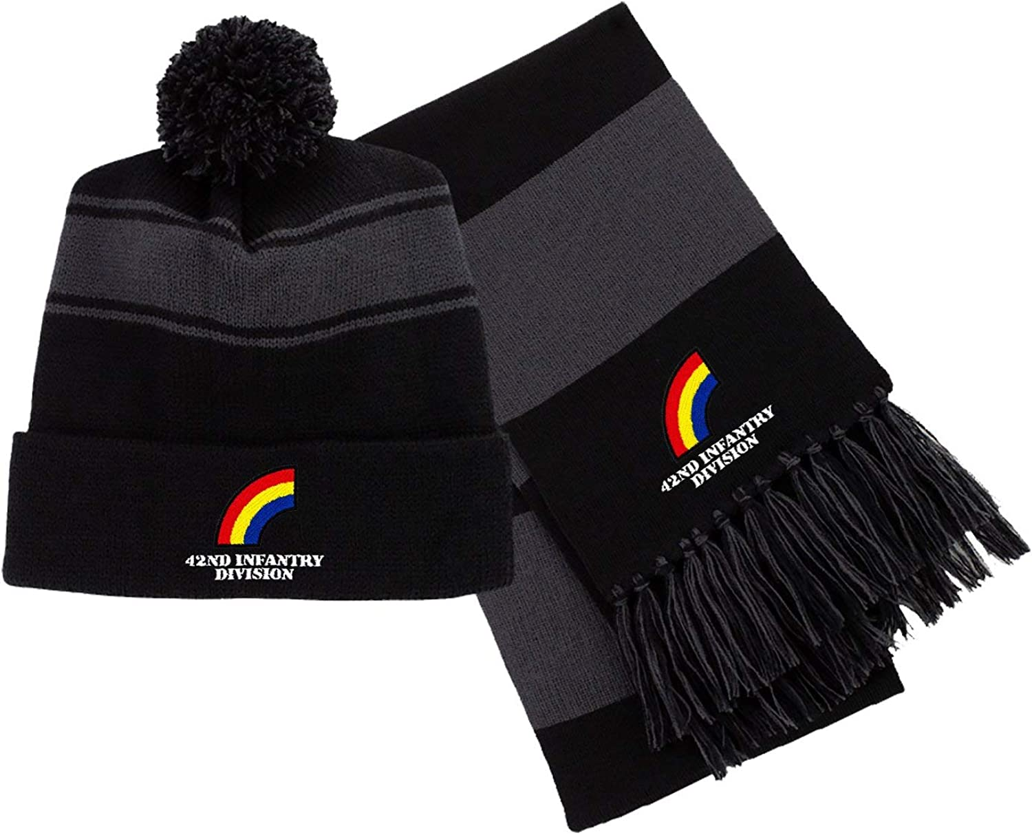 42nd Infantry Division Embroidered Beanie/Scarf