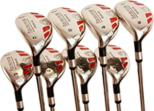 Left Handed Senior Women's Golf Clubs All Ladies iDrive Hybrids Complete Set Includes: #3, 4, 5, 6, 7, 8, 9, PW. Lady L Flex New Utility Easy Oversized Clubs. Perfect for 55+ Years Old