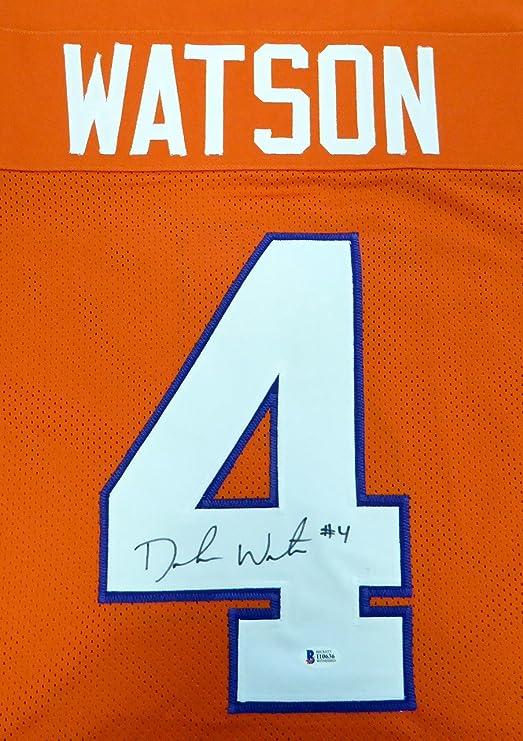 DeShaun Watson Autographed Clemson Orange Jersey - Beckett COA