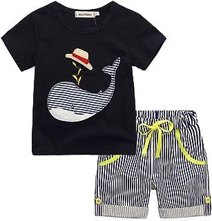 8476c64cb8a61 DAY8 Vetement Garçon 1 à 7 Ans Ensemble Enfants Garçon Pyjama Garçon Été  Pas Cher Chemisier