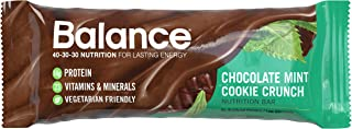 Balance Bar, Healthy Protein Snacks, Chocolate Mint Cookie Crunch, With Vitamin A, Vitamin C, Vitamin D, and Zinc to Suppo...