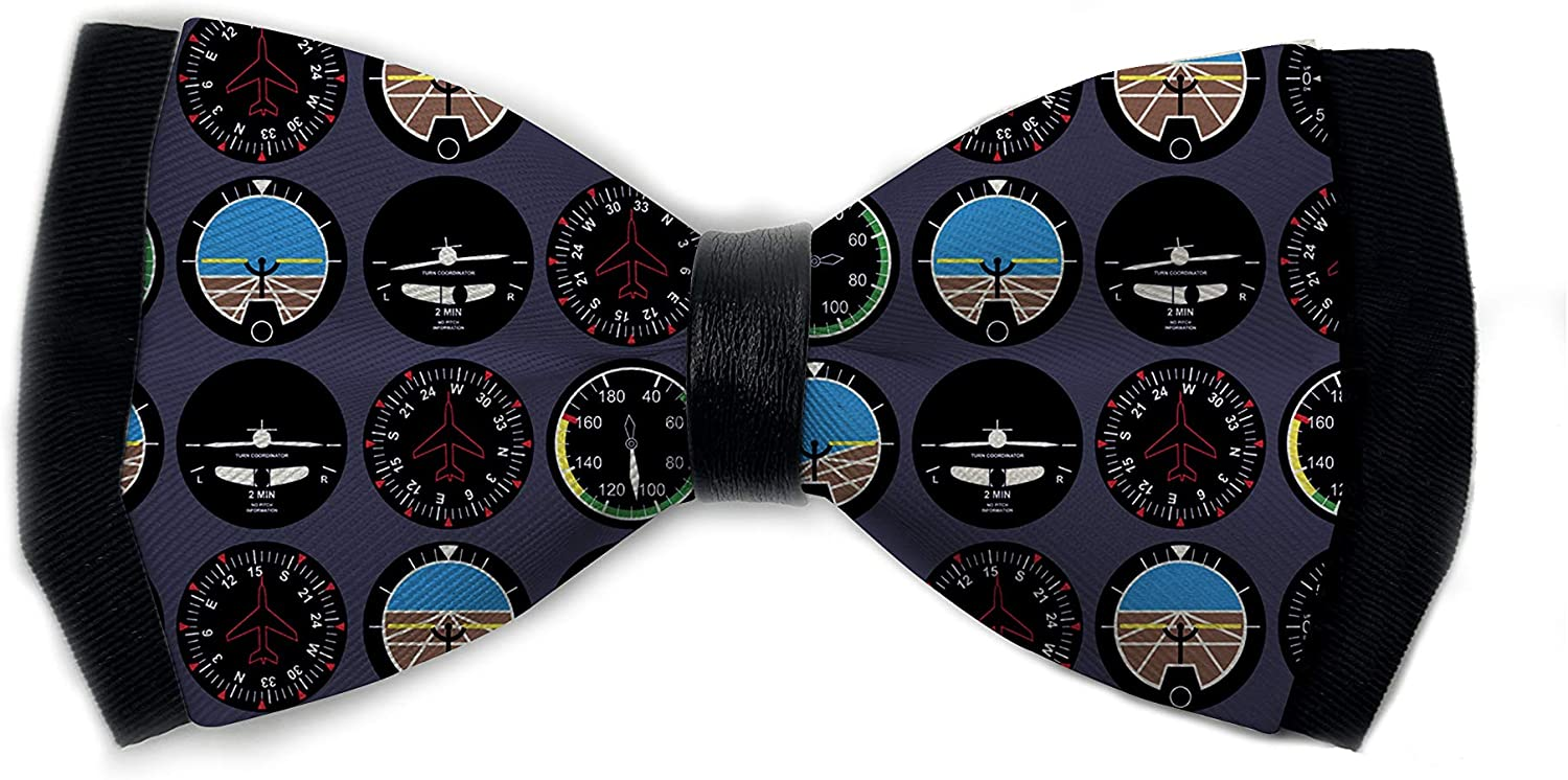 URTEOM Men's Bow Tie for Wedding Party, Adjustable Gray Aviation Bowtie, Accessories for Men Women, Suitable for Various Occasions, Club, Prom, Annual Meeting, Gatherings