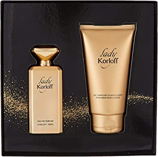korloff Lady Perfumes Assorted Fragrances For Women, Perfumes 88 ml + Body Lotion 150 ml