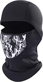 AIWOLU Cold Weather Ski Face Mask for Men Thermal Fleece Balaclava Hood for Skiing,  Snowboard,  Snowmobile,  Motorcycle,  Walking and More Outdoor Sports