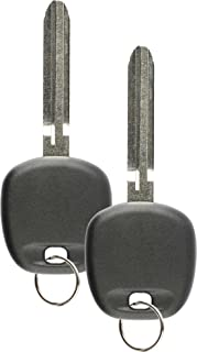 Discount Keyless Replacement Uncut Ignition Transponder Chipped Car Key For 4C (2 Pack)