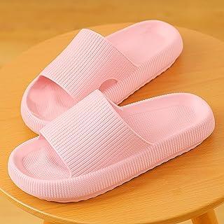 QAZW Almohada para Mujer Zapatillas Diapositivas - Antideslizante Secado Rápido Suela Gruesa Súper Suave Baño Plataforma E...
