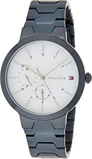 Tommy Hilfiger 1782078 Womens Quartz Watch, Analog Display and Stainless Steel Strap, White