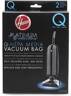 Hoover Platinum Type-Q HEPA Filter Vacuum Cleaner Bag, Part 902419001, for Upright UH30010COM, Pack of 2, AH10000