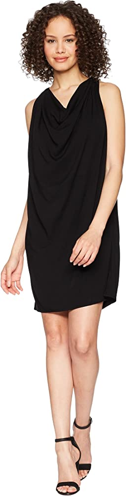 Rylie Rayon Draped Halter Dress
