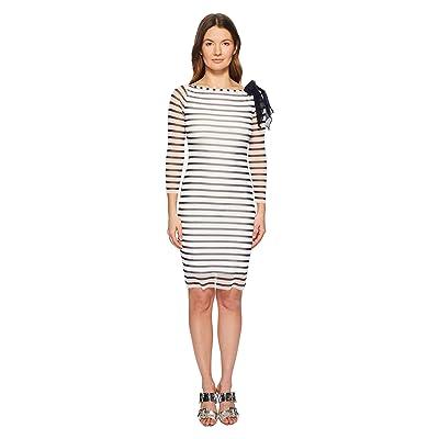 FUZZI Long Sleeve Stripe Fitted Dress (Cocco) Women