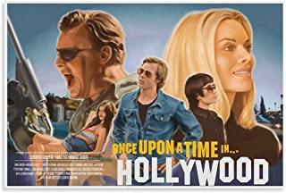 NIUASH Once Upon A Time in Hollywood Movie Posters YQ20 Poster Decorative Painting Canvas Wall Art Living Room Posters Bed...