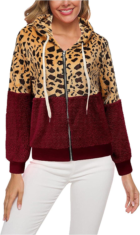 Hemlock Women Sherpa Sweatshirt Coat Hooded Zip Up Jackets Fleece Overcoat Short Winter Outwears