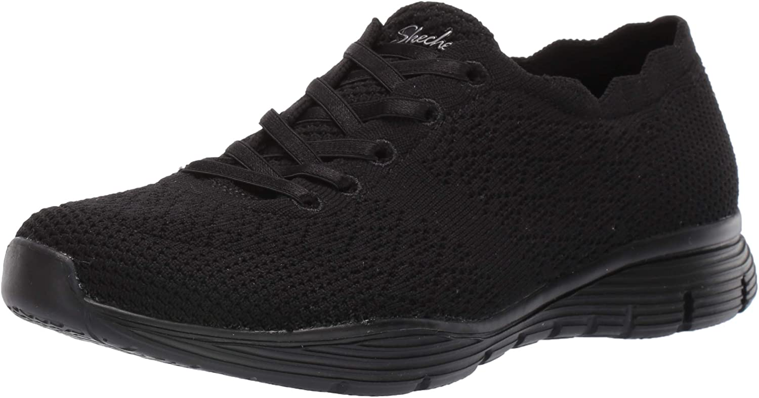 Skechers Women's Wholesale Seager-Try Outs-Engineered OFFicial Scalloped Colla Knit