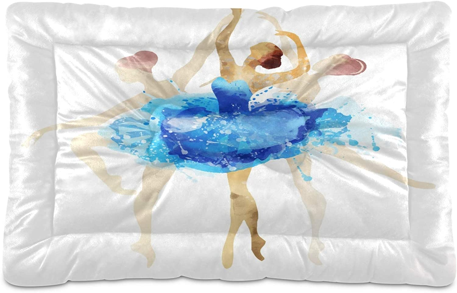 KEEPREAL Blue Ballerina Dog Bed P Online limited product Now free shipping Cat Rectangle Comfortable