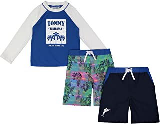 Tommy Bahama boys Rashguard and Trunks Swimsuit Set Rash Guard Set (pack of 3)