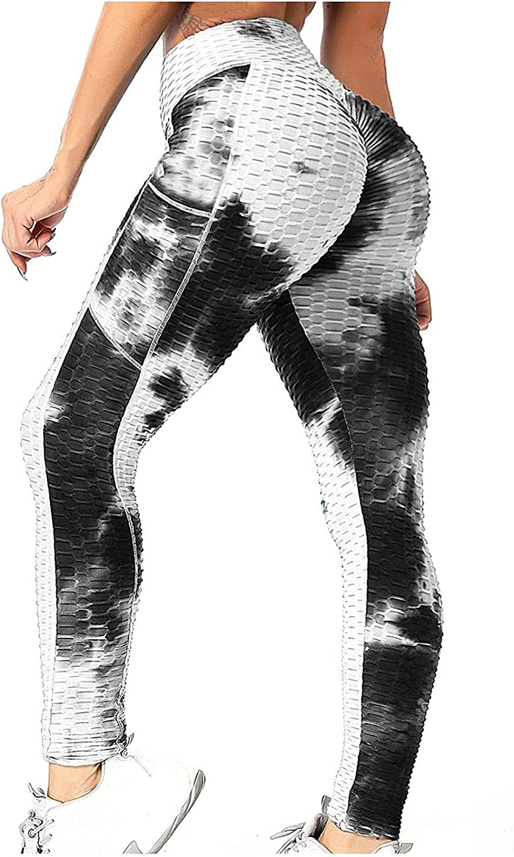 TIK Tok High Waist Hip Leggings TIK Tok Trendy Dye Printed Tummy Control Stretch Pants for Mens Womens