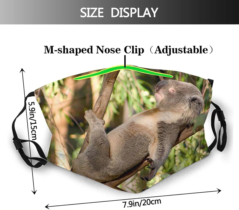 Funny Animal Sloth Face Mask Balaclavas, Washable & Reusable & Breathable Bandana with 2 Filters, for Men & Women
