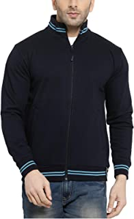 Scott International AWG Men's Rich Cotton High Neck Hoodie Sweatshirt - Navy Blue