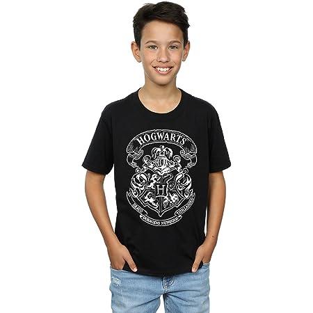 HARRY POTTER niños Hogwarts Crest Camiseta 12-13 Years Negro