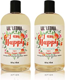 3-in-1 Baby Shampoo Bubble Bath and Body Wash – 16 oz (2 pack)- By Lil Leona