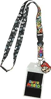 Nintendo Super Mario Characters Reversible Breakaway Keychain Lanyard with ID Holder,..