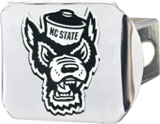 FANMATS NCAA North Carolina State Wolfpack Hitch Cover - Chromehitch Cover - Chrome, Team Colors, One Sized