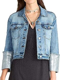 RACHEL Rachel Roy Women's Metallic-Cuff Denim Jacket