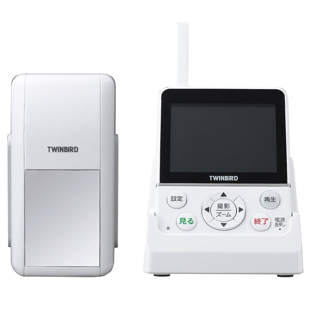 TWINBIRD ワイヤレス?ドアスコープモニター DoNaTa(ドナタ) ホワイト VC-J560W