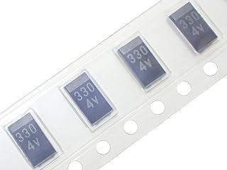 NEC/TOKIN 汎用品 プロードライザ 修理向け 0E128 0E907 タンタルコンデンサ 4.0V 330μF E/SVシリーズ TEESVC0G337M12R (4個セット)